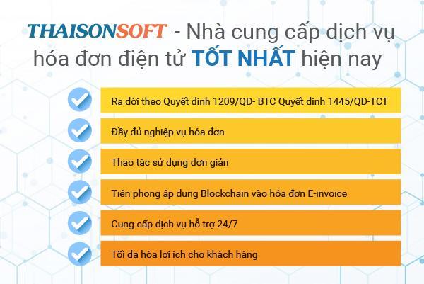 Những lý do khiến Thái Sơn là nhà cung cấp hóa đơn điện tử uy tín