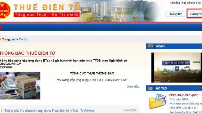Quyết toán thuế tndn trực tuyến