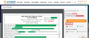 Điền thông tin tra cứu hóa đơn điện tử trên Einvoice
